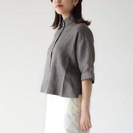 SETTO リネン オッカケシャツ スタンドカラーシャツ LINEN OKKAKE SHIRT STL-SH016L セット