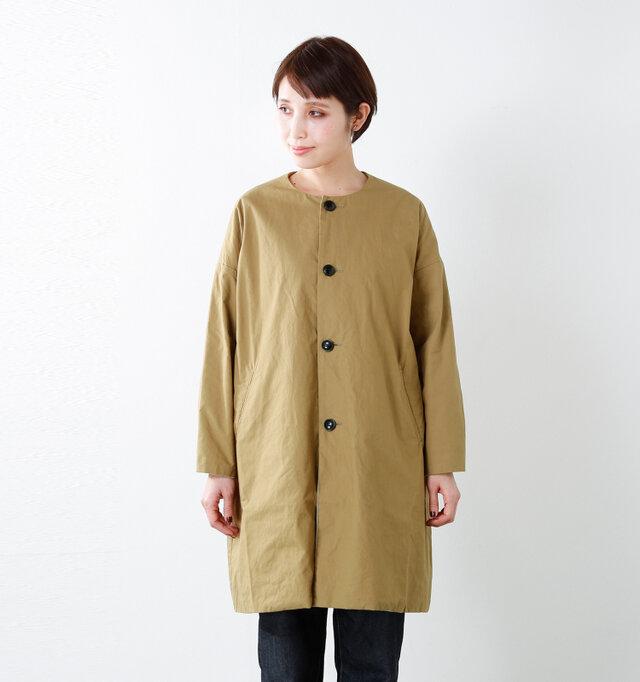 model yama:167cm / 49kg color : walnut / size : 0