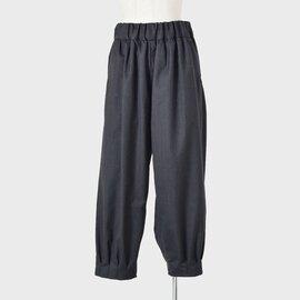 NO CONTROL AIR|ウールストレッチカルゼ裾タック9分丈パンツ a0-nc124pf-tr