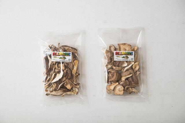 生まれも育ちも長野県東御市の八重原(やえはら)。原木椎茸はツヤのある茶褐色に育ち、肉厚で香りも良いです。