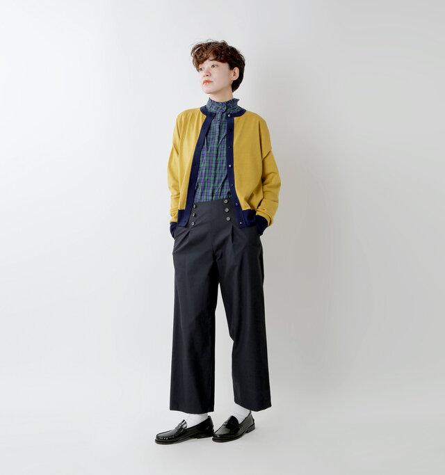 model saku:163cm / 43kg  color : yellow / size : F