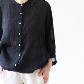 mizuiroind|クレープバンドカラードルマンシャツ