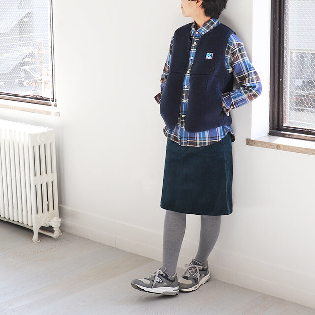 ネイビー / WM 着用、モデル身長:160cm
