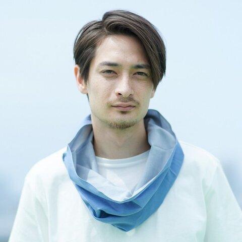 Oo|てぬぐい Oo[ワオ]  Blue × Gray