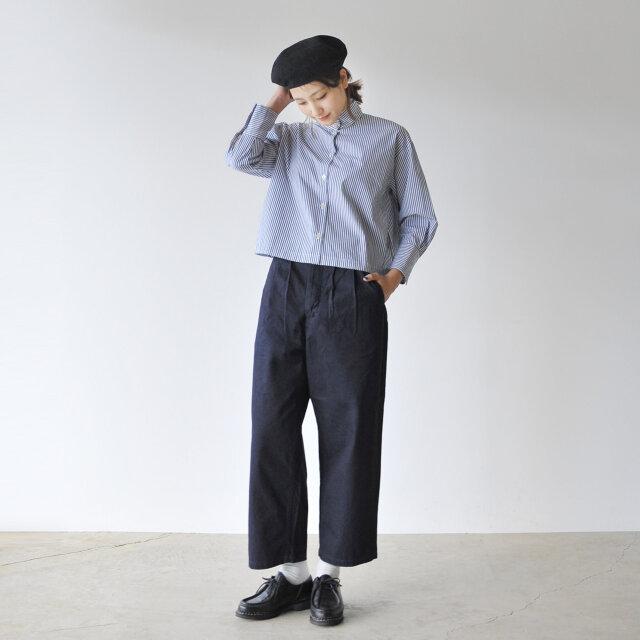 モデル:170cm / 54kg color : navy stripe(col.NST) / size : free