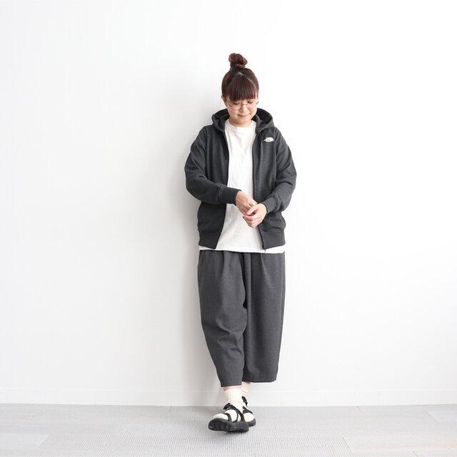 ブラック (杢チャコールグレー) / L 着用、モデル身長:162cm