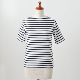 SAINT JAMES|コットンボートネックTシャツ piriac/piriac-au-ms