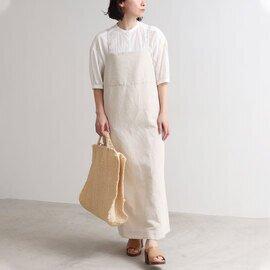 yuni|リネン/コットン ドビー バッグリボンジャンパースカート 1701OP026211
