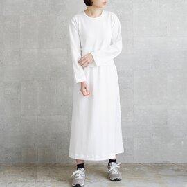 THE HINOKI|オーガニックコットン ロングスリーブベルテッドドレス th19s-25