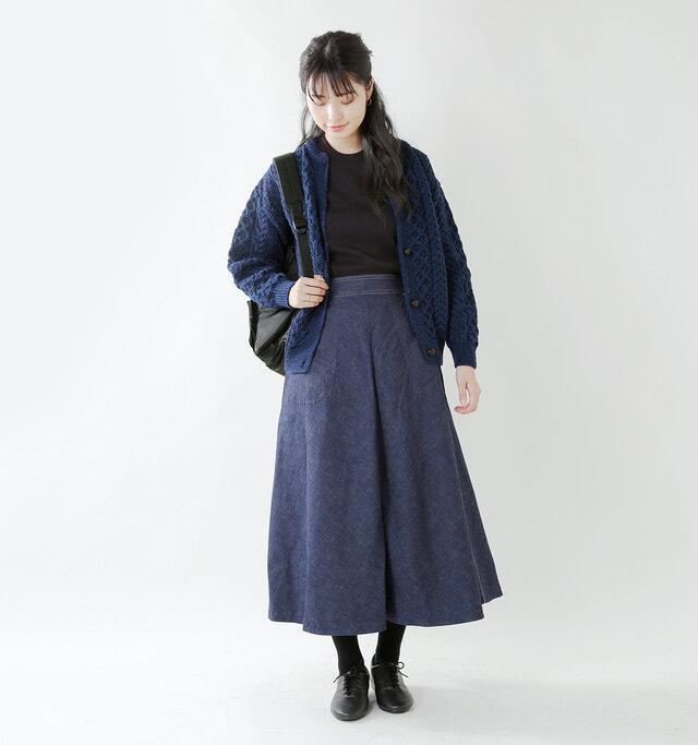 model kanae:167cm / 48kg color : pacific blue / size : F