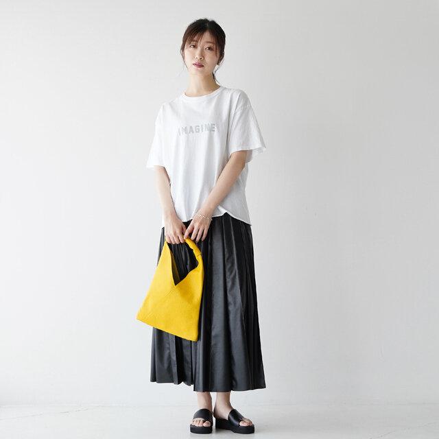 モデル: 166cm / 47kg color:imagine white / size:free(フリーサイズ)