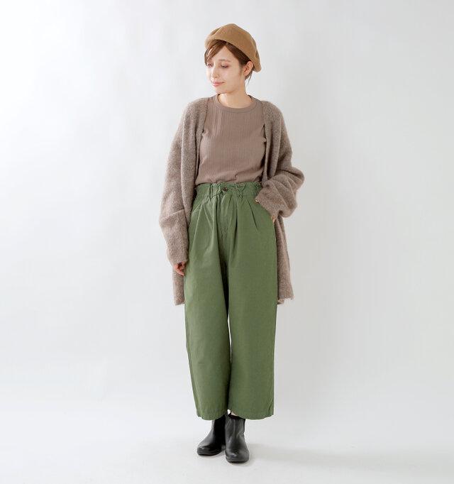 model yama:167cm / 49kg color : olive / size : S