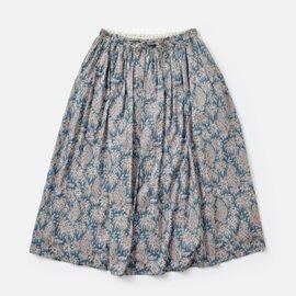 【2019ss】Vent d' ouest par Le minor aranciato別注 リバティプリントコットンロングスカート el-17915