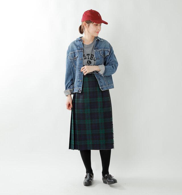 model yama:167cm / 49kg color : blackwatch×Charcoal / size : 10