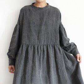 ichi Antiquités|Natural dyed Linen 2way Dress