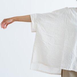 mizuiro ind|スタンドカラーワイドギャザーシャツ