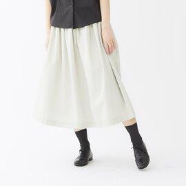 Cion|コットンリネンギャザースカート・19-07201