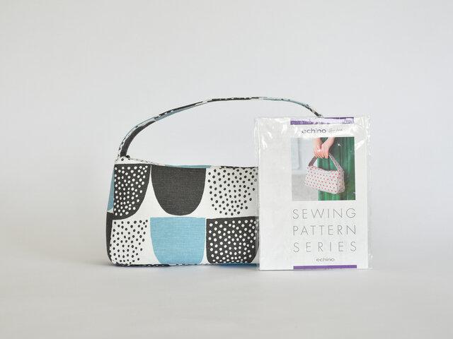 ちょっとしたスキマ時間にバッグ作り♪Sokeri:ブルーの生地で製作しました。北欧生地を使えば、コーディネートのワンポイントになる世界に一つのバッグができあがります◎