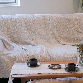 BONCHIC MAROC|pompom blanket zigzag
