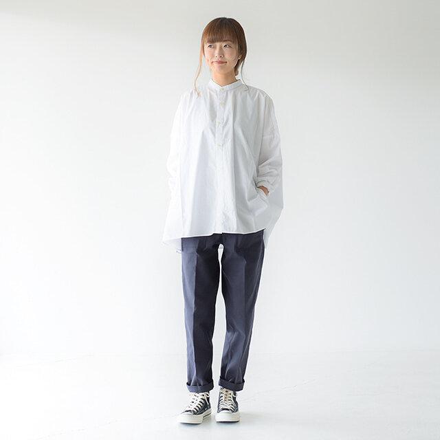 モデル:162cm / 43kg color : navy / size : P0(XS)
