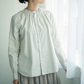 GRANDMA MAMA DAUGHTER シャーリングフリルシャツ
