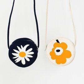 marimekko|サークル型 花柄 ポシェット Unikko Rilla  Rakastaa Rilla キャンバス コンパクト バッグ 鞄 52203-6-48549 52203-6-48550 マリメッコ