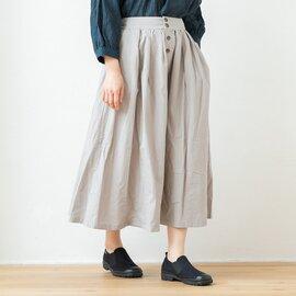 TUTIE.|綿麻ウェザークロスバイウォッシュタックフレアスカート