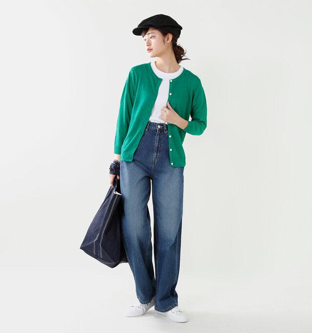 model kanae:167cm / 48kg color : green / size : F