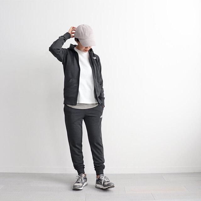 ブラック (杢チャコールグレー) / M 着用、モデル身長:160cm ※セットアップで着用