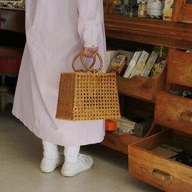 CARMELINA|八ツ目編みカゴバッグ サークルハンドル