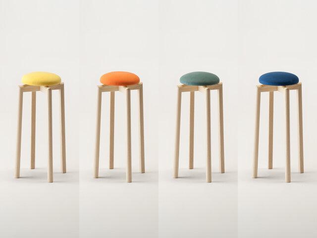 SH:600mm カラー(左から):イエロー、オレンジ、モスグリーン、ブルー