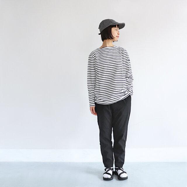 ホワイト×ブラック / 1 着用、モデル身長:164cm