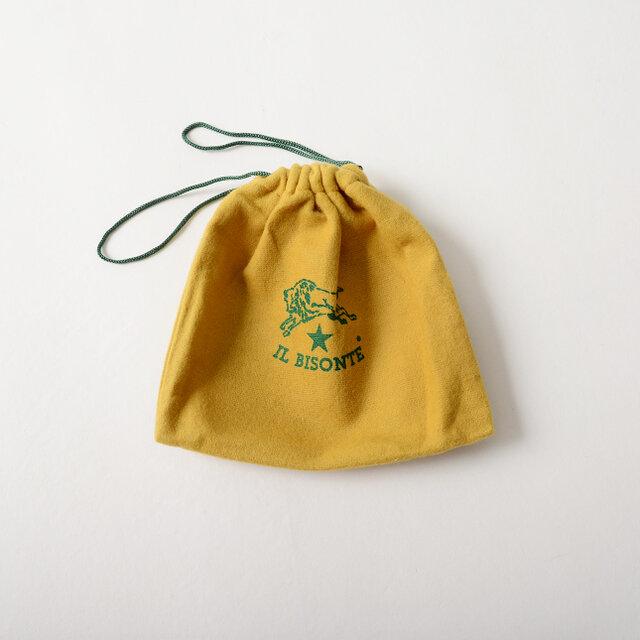 アイテムはイルビゾンテオリジナルの保存袋付きでお届け致します。 使わないときでも大切に保管することができるのは嬉しいですね。