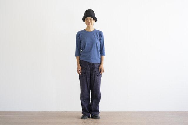 ブルー / S 着用、モデル身長:160cm