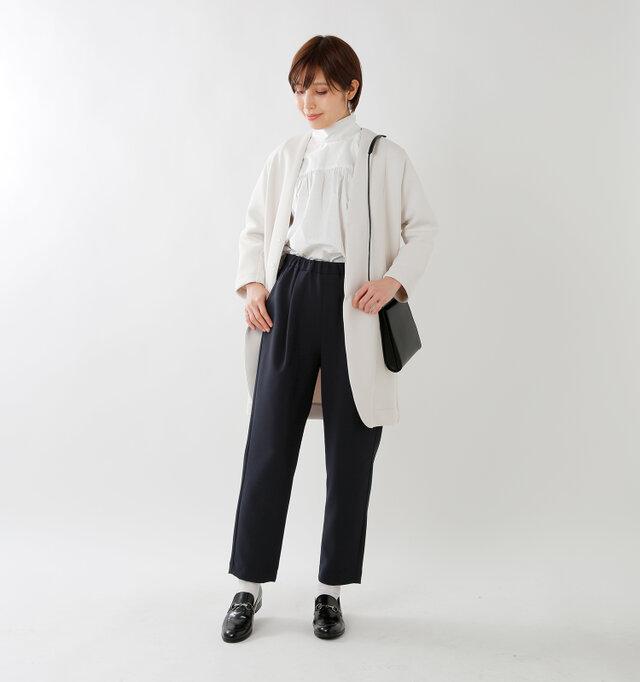 model yama:167cm / 49kg color : navy / size : M