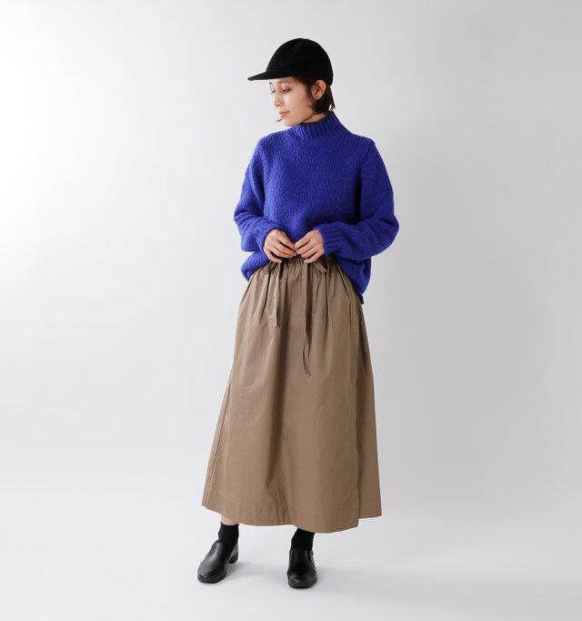 model yama:167cm / 49kg color : cobalt / size : S