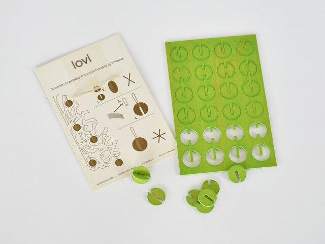 1シートで8個のミニボールができます。説明書が付いているので、それを見ながらどなたでも簡単に組み立てられますよ。また、こちらはクリスマスカードとして定形外郵便で郵送することも可能です。