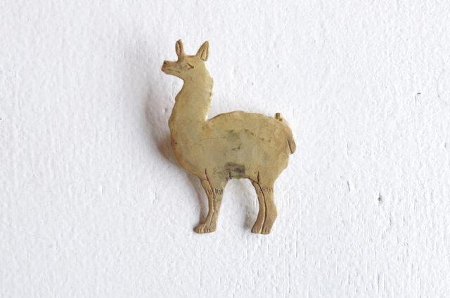 リャマはアンデス地方に生息するラクダ科の動物で、ナスカの地上絵にも描かれているのだとか。