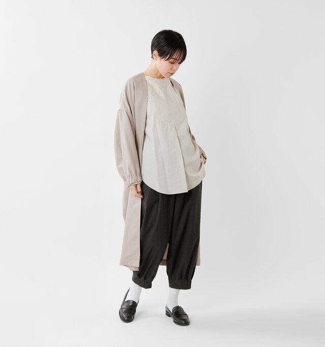 model saku:163cm / 43kg  color : gary×black / size : XS