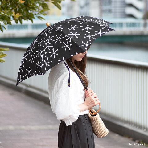 SUR MER[シュルメール ]日傘 雪の結晶柄(晴雨兼用)