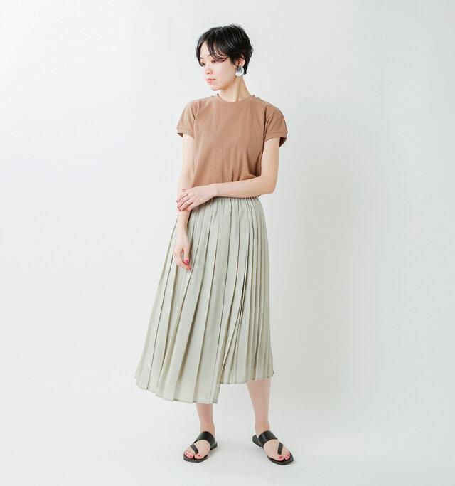 model saku:163cm / 43kg  color : mint green / size : S
