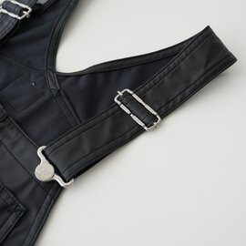 Lee フェイクレザー テーパード オーバーオール FAKE LEATHER TAPERD OVERALL LL1184 リー
