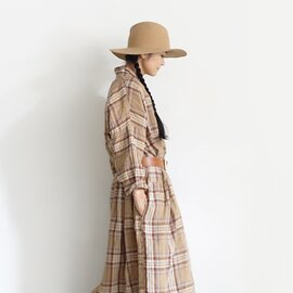 ichi Antiquités|Linen Tartan Shirt Dress
