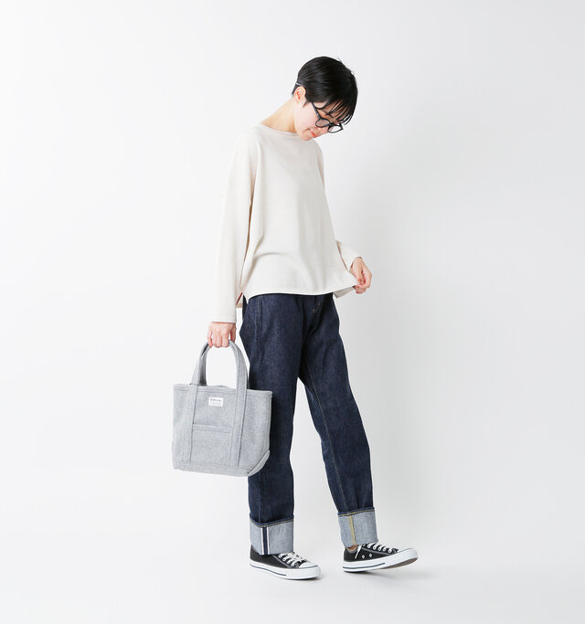 model saku:163cm / 43kg color : top gray / size : one