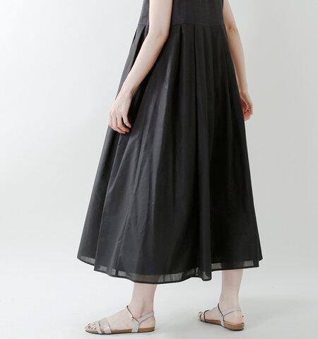 ina aranciato別注 ウエスト切替タックフレンチリネンキャンバスワンピース 182146-fn