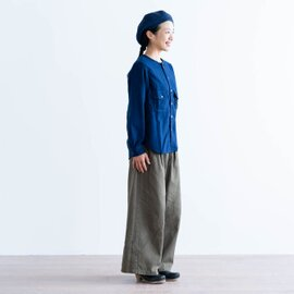 and wander|thermonel collarless shirt