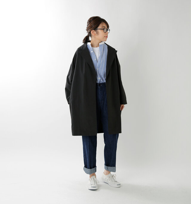 model hikari:165cm / 48kg  color : black / size : F