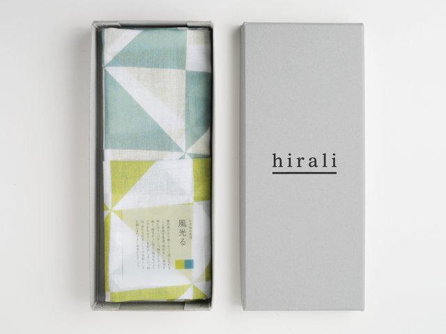 hirali|【送料無料】ガーゼストール かさねの色目 ~風光る~