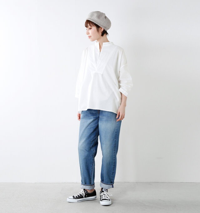 model yama:167cm / 49kg color : white / size : F