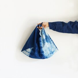 ichi Antiquités|Natural Handdye INDIGO FUROSHIKI Bag